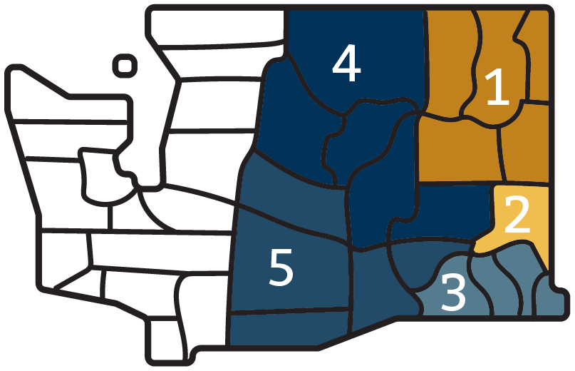 Wheat Districts in Washington State