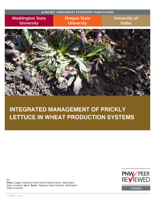 Integrated Management of Prickly Lettuce in Wheat Production Systems