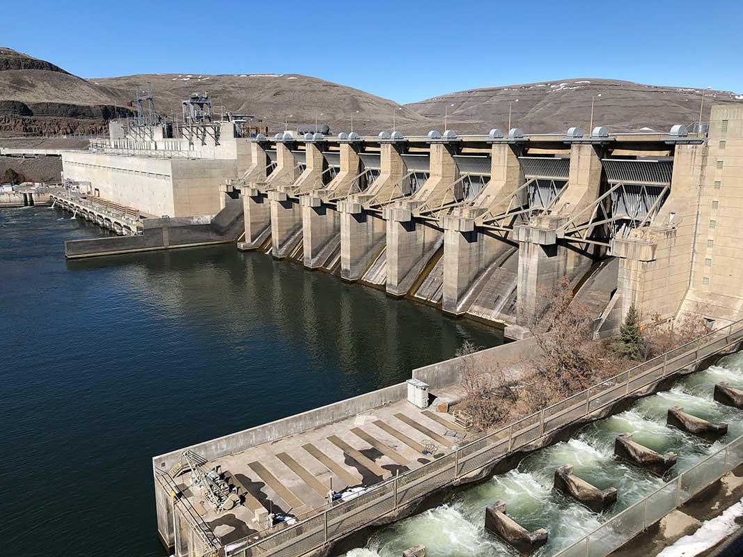 Lower Monumental Dam in Washington State